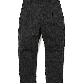 nonnative - DWELLER EASY PANTS RELAXED FIT W/N/P LIGHT MELTON - CHARCOAL