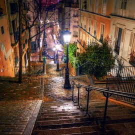 Montmartre - Steps at Montmartre, Paris, France