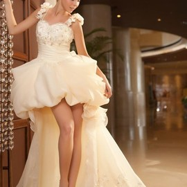 WEDDING - short in the front and long in the back with plenty of rich detail