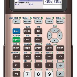 Texas Instruments - Texas Instruments® TI-84 Plus CE Color Graphing Calculator, Rose Gold 0