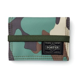 "HEAD PORTER - ""JUNGLE"" BAND CARD CASE KHAKI"