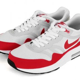 Nike - NIKE AIR MAX 1 PREMIUM TAPE QS WHITE/CHALLENGE RED-NEUTRAL GREY