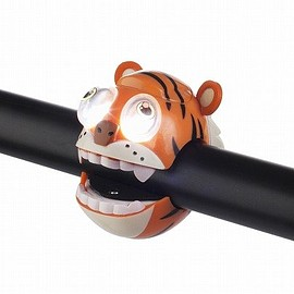 Crazy Stuff - Kids Tiger Bicycle Light - Orange