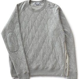 bal - Side Zip Quilted Crew Neck (heather grey)