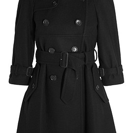 Comme des Garçons GIRL - Belted double-breasted wool-blend felt coat