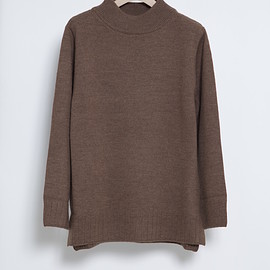 honor gathering - mock neck over knit