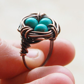 Karismabykarajewelry - Bird nest ring