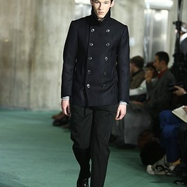 DRIES VAN NOTEN - Herringbone Pea coat (FW2009)