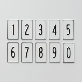 Black and White Number Signs