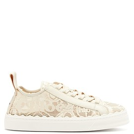 Chloé - Resort 2020 Lauren scalloped lace trainers