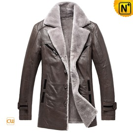 cwmalls - Washington Shearling Leather Trench Coat CW878249