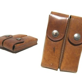 '1960 vintage USSR ソ連 弾丸レザーケース bullet leather case (ヴィンテージ ビンテージ ソ連 ロシア)