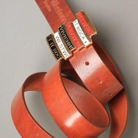 Vivienne Westwood - 'Let It Rock' Cinture Belt in Tan