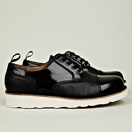 Carven - Men's Leather Mix Shoe with Vibram Sole
