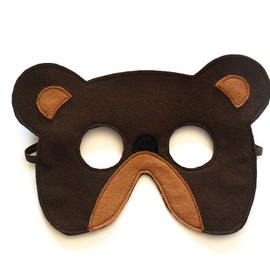 BHBKidstyle - Bear Felt Children Mask Kids Carnival Mask