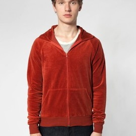 American Apparel - rsav405 Velour Track Jacket
