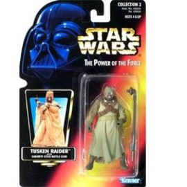 kenner - STAR WARS Power of the force Closed Hand Tusken Raider Red Card Action Figure by Kenner