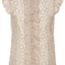 VALENTINO - Embroidered organza top
