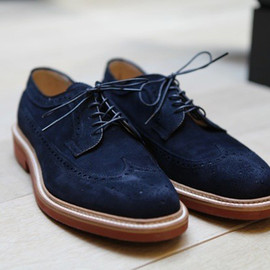 Alden x Frans Boone - Navy Suede Long Wings