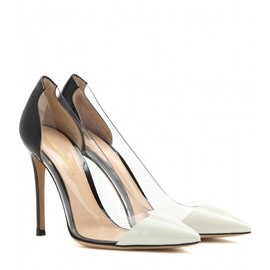 GIANVITO ROSSI - Patent leather and transparent pumps