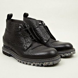 Lanvin - Men's Grain Calfskin Leather Chunky Sole Boots