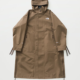 HYKE × THE NORTH FACE - GTX Long Coat Coyote Brown