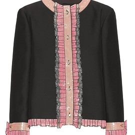 GUCCI - SS2016 Embellished silk and cotton jacket