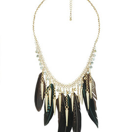 FOREVER 21 - Feather & Spike Necklace