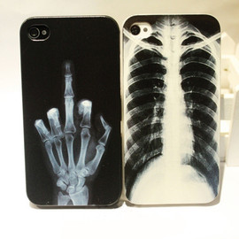 Image of Cool X-ray Skull Bone Hard Cover Case For Iphone 4/4s
