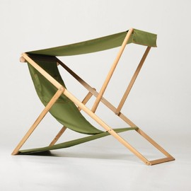 deck-chair is extended with a removable sunshade.