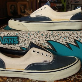 VANS - Era 2-tone canvas made in usa 1990