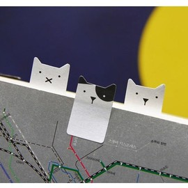 JSTORY - Smile sticky memo notes bookmark tabs - cat