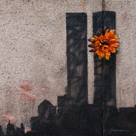 Banksy - Twin tower @911 Tribeca