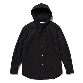HEAD PORTER PLUS - HOODIE SHIRT BLACK