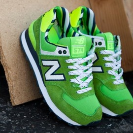 New Balance - New Balance 574 Yacht Club Pack   Green