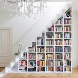 architecture, arquitectura, bolig, book, book shelves, bookcase