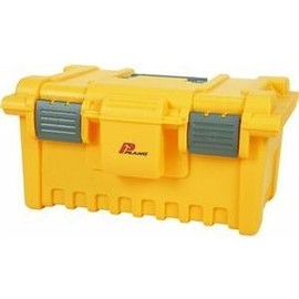 Creative - Plano 771 BAB 19-Inch Tool Box with Tray, Gray and Yellow