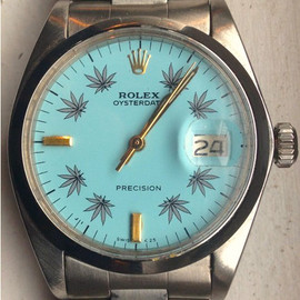 1965 Vintage Air-King Ref. 1002 Stainless Steel watch with Custom Turquoise Blue Dial