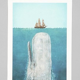 Terry Fan For Society6 The Whale Print