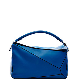 LOEWE - FW2015 Large Puzzle Bag In Turquoise Calf Leather