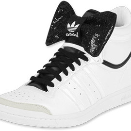 adidas originals - Adidas Top Ten Hi Sleek W shoes white white black