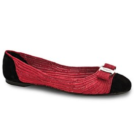 Salvatore Ferragamo - ballet shoes and wedges Red