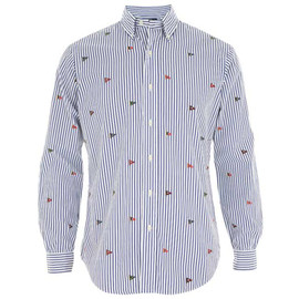 RALPH LAUREN - Embroidered Striped Shirt