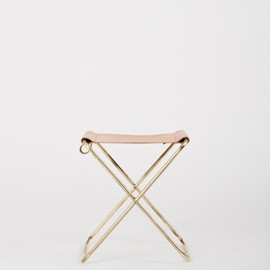 Rebecca Snelling for Kate Sylvester - Folding Brass Stool 1.0