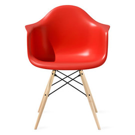 Herman Miller - Eames® Molded Plastic Chair With Dowel-Leg Base (Red) by Charles & Ray Eames