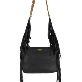 LANVIN - Tribale fringed textured-leather shoulder bag