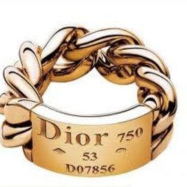 Dior JOAILLERIE - ring / GOURMETTE yellow gold