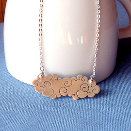 lunahoo - Sterling silver cloud necklace - Long