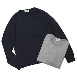 JOHN SMEDLEY - 30G SEA ISLAND COTTON KNIT / BLACK