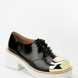 Jeffrey Campbell - Jeffrey Campbell Metal Toe-Cap Platform Oxford